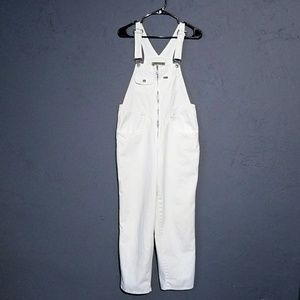 Express White Cotton Overalls Size S